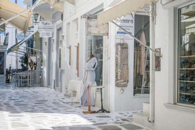 Kykladeninseln Tinos Chora Geschäfte