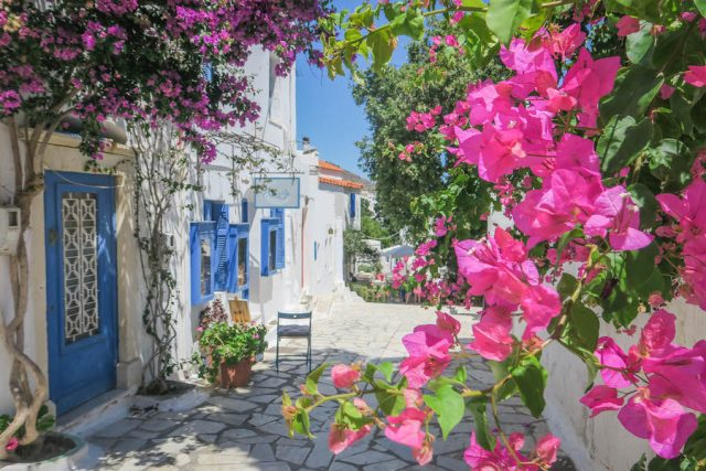 Kykladeninseln Tinos Pyrgos Innenstadt