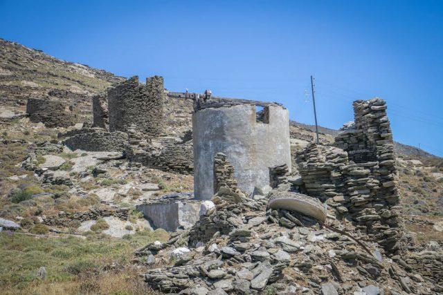 Kykladeninseln Tinos Miloi Windmühlen Ruinen