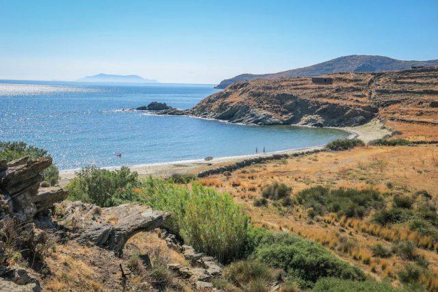 Kykladeninseln Tinos Apigiana Beach