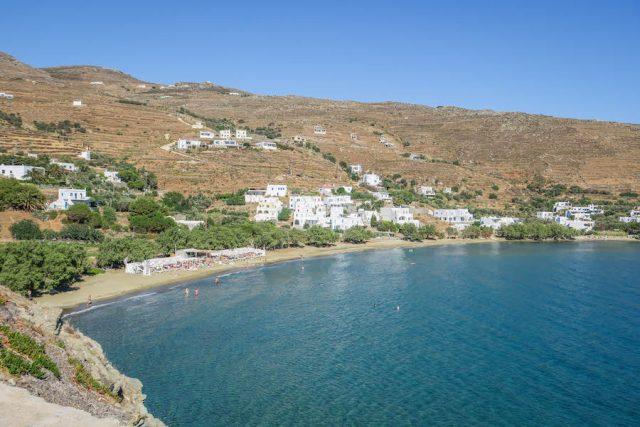 Kykladeninseln Tinos Agios Romanos Beach