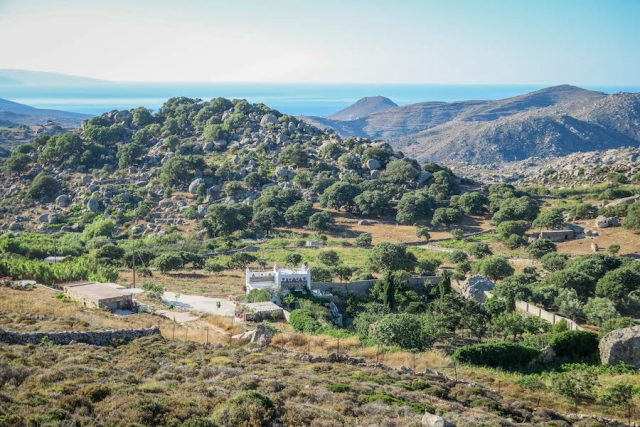 Kykladeninseln Tinos Volax Landschaft