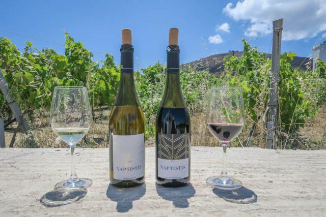Kykladeninseln Tinos Vaptistis Winery Stenis Weine