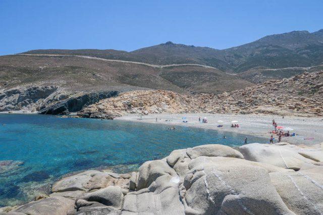 Kykladeninseln Tinos Livada Beach