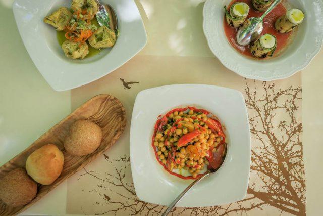 Kykladeninseln Tinos Itan ena mirko karavi Restaurant Essen