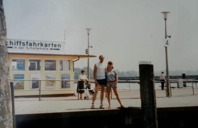 Reisen frueher und heute Bootsanleger Konstanz