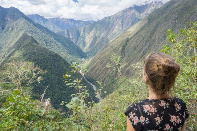 Inka Trail Machu Picchu Peru Ausblick Tal