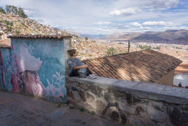 Peru Reisen Cusco Aussicht Cerro Cristo Blanco