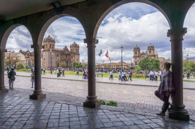 Peru Reisen Cusco Plaza de Armas Hauptplatz