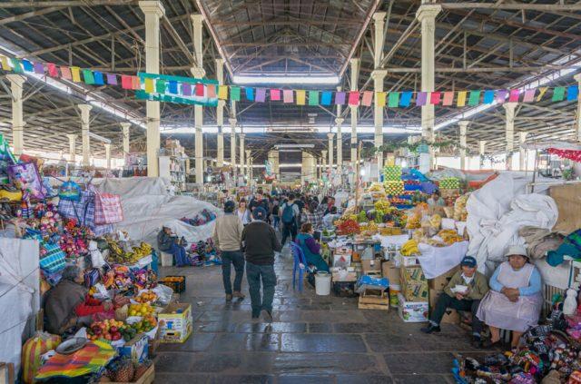 Peru Reisen Cusco San Pedro Markt