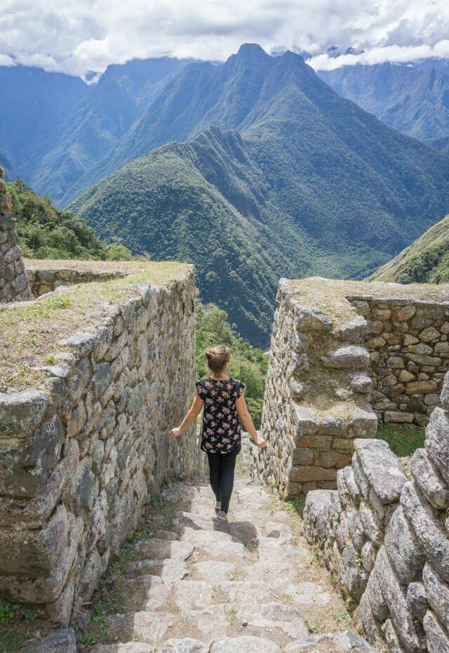 Peru Reisen Inka Trail Winay Wayna Ruine