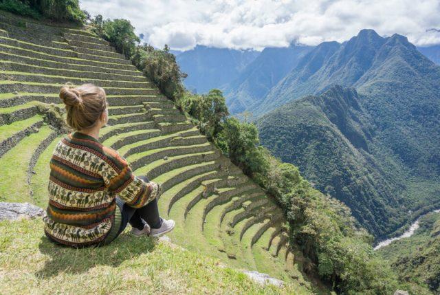 Peru Reisen Inka Trail Winay Wayna Ruinen