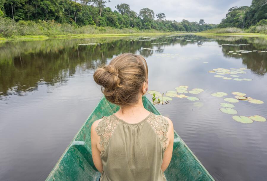 Peru Reisen Puerto Maldonado Amazonas See Kanu