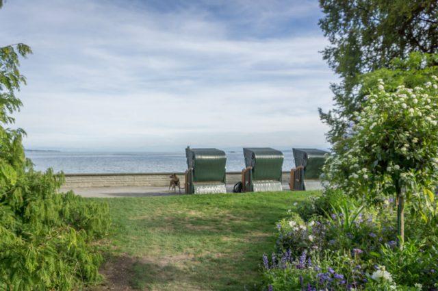 Bodensee Urlaub Insel Mainau Strandkoerbe