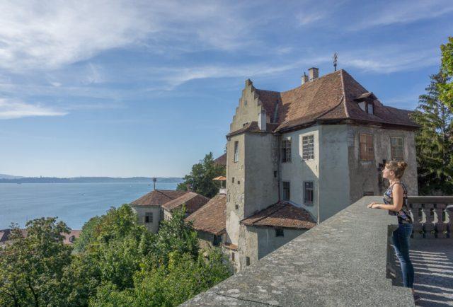 Bodensee Urlaub Meersburg Burg Aussicht