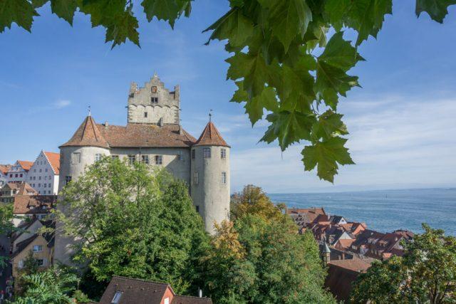 Bodensee Urlaub Meersburg Burg Panorama