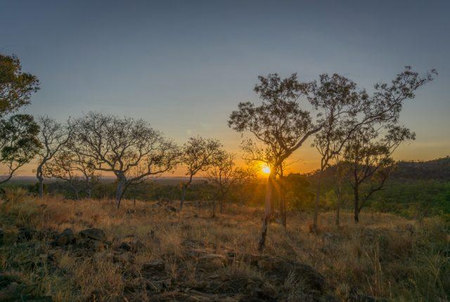 Atherton Tablelands Undara Experience Sonnenuntergang