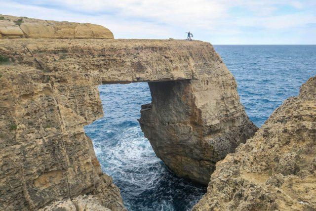 Gozo Malta Victoria Wied Il-Mielah Felsentor