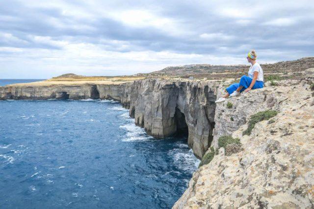 Gozo Malta Victoria Küste Klippen