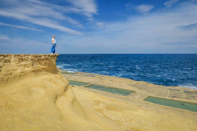 Gozo Malta Victoria Salzpfannen Norden