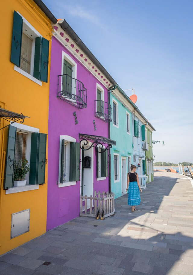 Italien Venedig Urlaub Burano bunt