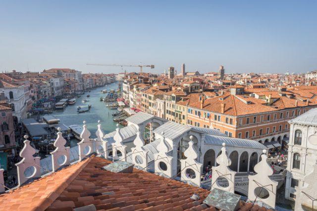 Italien Venedig Urlaub Fondaco dei Tedeschi Aussicht Dachterrasse
