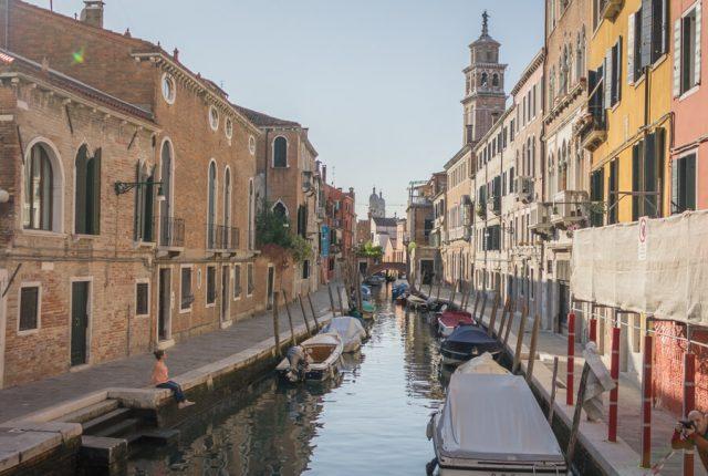 Italien Venedig Urlaub Kanal