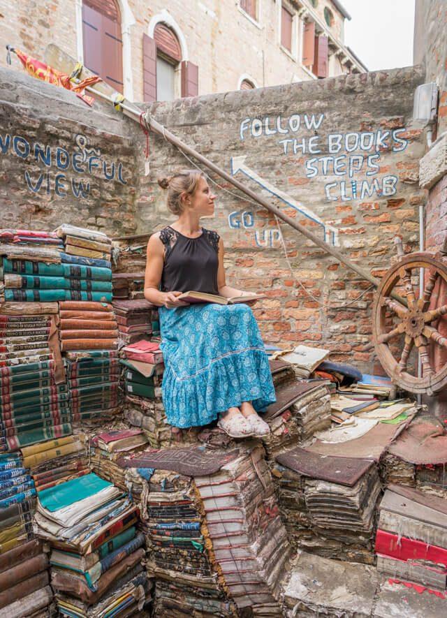 Italien Venedig Urlaub Libreria Acqua Alta-2 Kopie