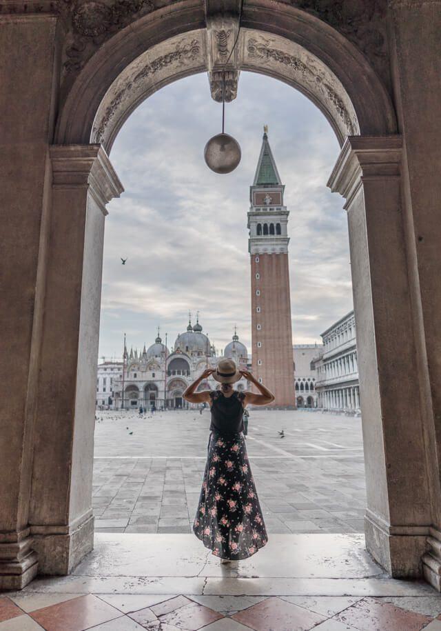Italien Venedig Urlaub Markusplatz