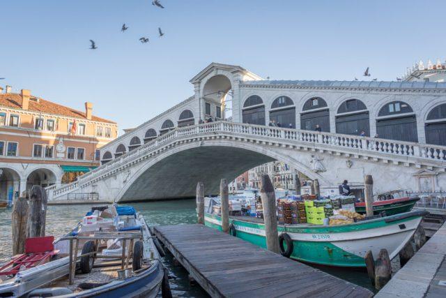 Italien Venedig Urlaub Rialto Bruecke