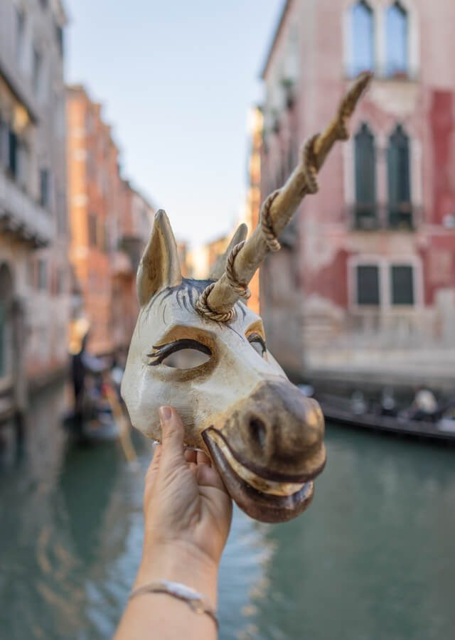 Italien Venedig Urlaub San Marco Maske