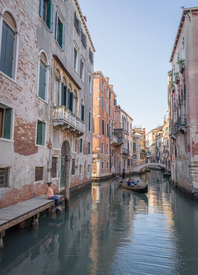 Italien Venedig Urlaub San Marco Steg