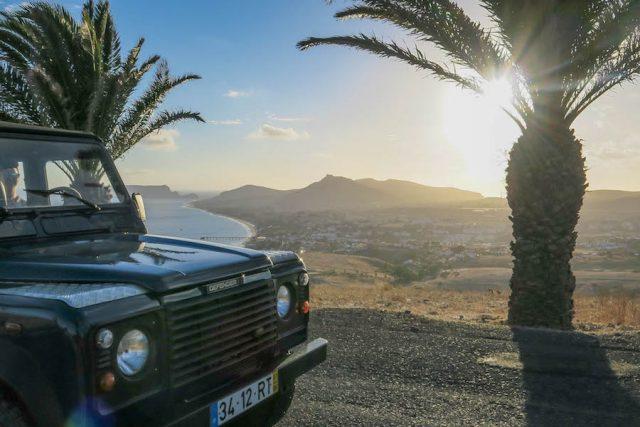 Madeira Urlaub Funchal Porto Santo Lazermar Jeeptour Sonnenuntergang