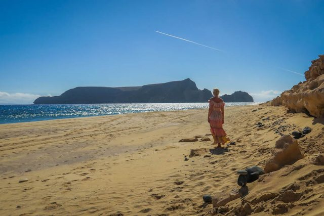 Madeira Urlaub Funchal Porto Santo Sandstrand