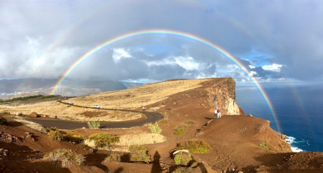 Madeira Urlaub Funchal Porto Santo Regenbogen