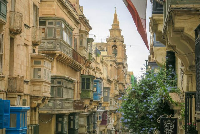 Malta Sehenswuerdigkeiten Malta Urlaub Valetta Erker
