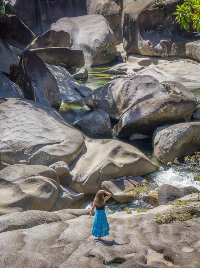 Mission Beach Cairns Australien Babinda Boulders Felsen