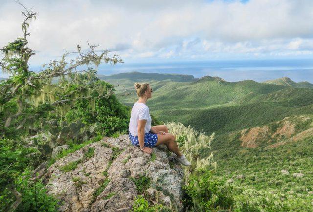 Curacao Urlaub Karibik niederlaendische Antillen Christoffelberg Aussicht