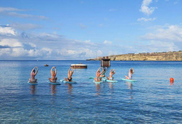 Curacao Urlaub Karibik niederlaendische Antillen SUP Yoga