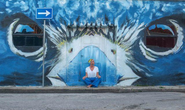 Curacao Urlaub Karibik niederlaendische Antillen Willemstad Otrobanda Streetart Eule