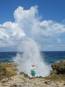 Curacao Urlaub Karibik niederlaendische Antillen Shete Boka Nationalpark Boka Pistol Kueste