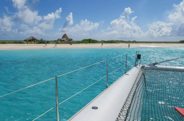 Curacao Urlaub Karibik niederlaendische Antillen Klein Curacao Blue Finn Charters