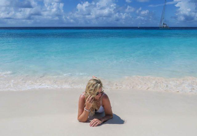 Curacao Urlaub Karibik niederlaendische Antillen Klein Strand