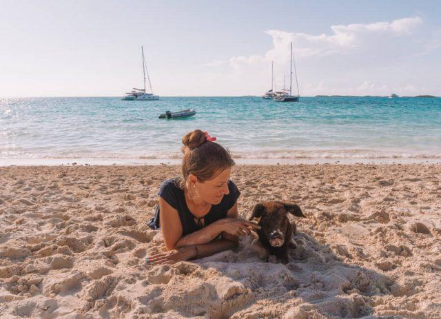 Bahamas Exumas Yacht Charter Pig Beach Schweine Strand