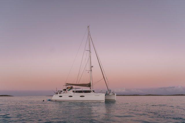 Bahamas Exumas Yacht Charter Sonnenuntergang