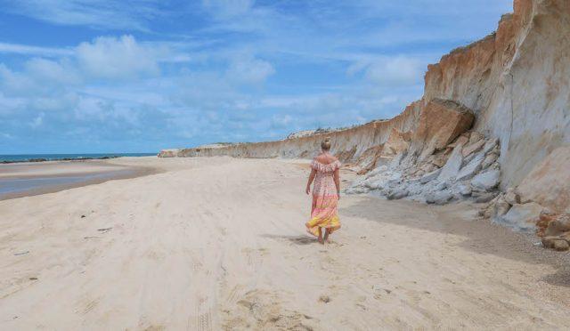 Brasilien Urlaub Ceara Fortaleza Canoa Quebrada Strand