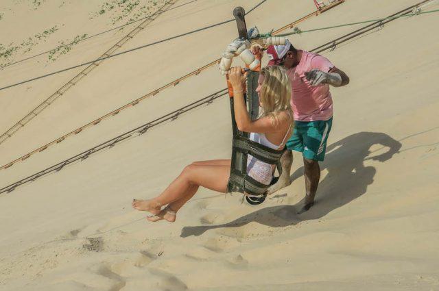 Brasilien Urlaub Ceara Fortaleza Canoa Quebrada Ziplining Dünen