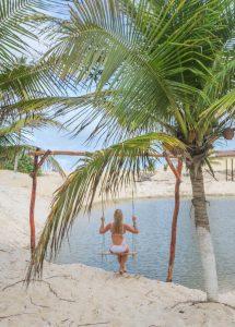 Brasilien Urlaub Ceara Fortaleza Canoa Quebrada Schaukel