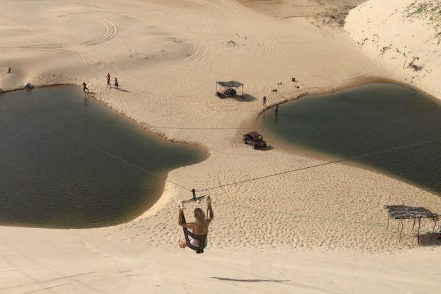 Brasilien Urlaub Ceara Fortaleza Canoa Quebrada Ziplining Lagune