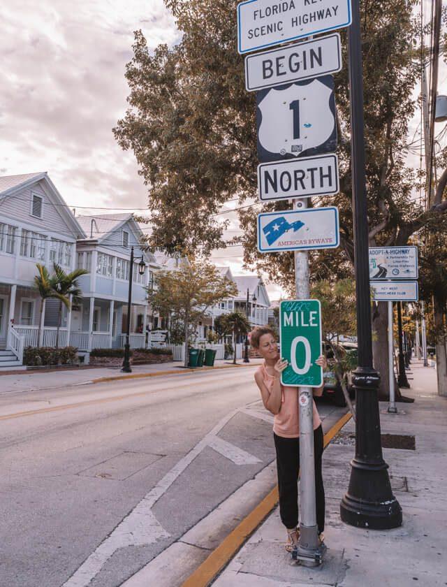 Key West Florida Sehenswuerdigkeiten Mile Marker Zero